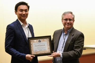 Enerelt Enkhbold, winner of the CESS 2018 Graduate Student Paper Award